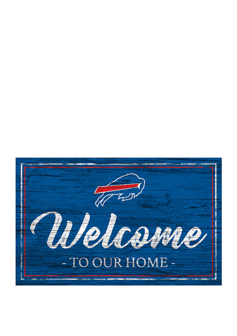 NFL Buffalo Bills 11 in x 19 in Team Color Welcome Sign