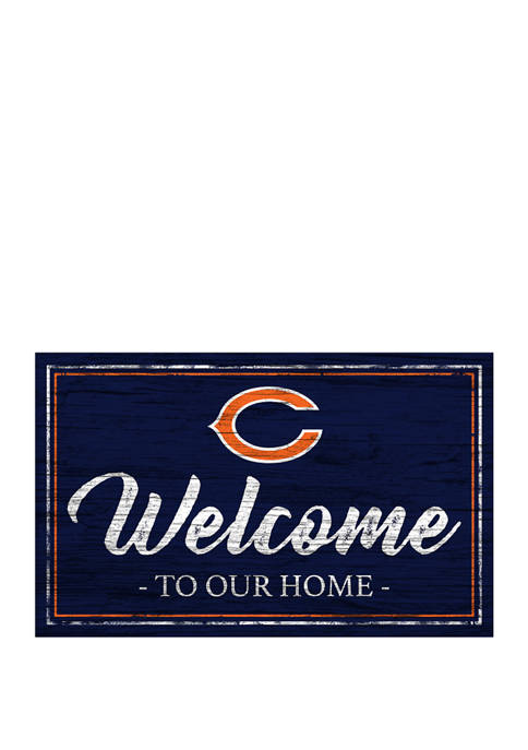 NFL Chicago Bears 11 in x 19 in Team Color Welcome Sign