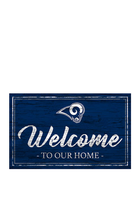 NFL Los Angeles Rams 11 in x 19 in Team Color Welcome Sign