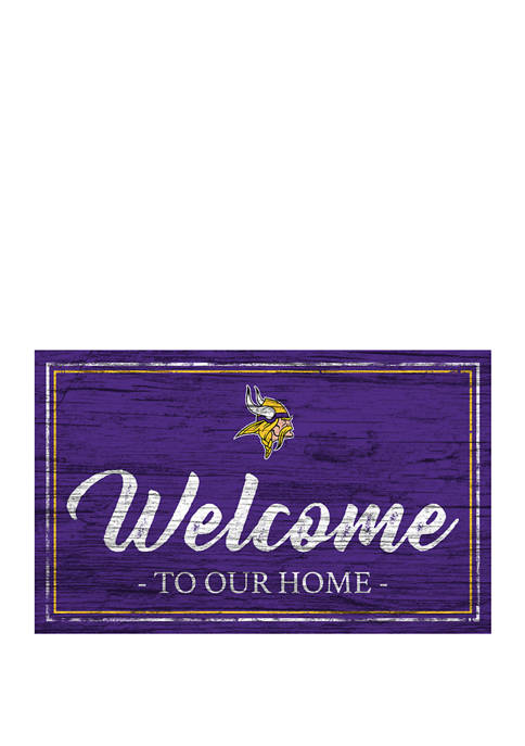 NFL Minnesota Vikings 11 in x 19 in Team Color Welcome Sign