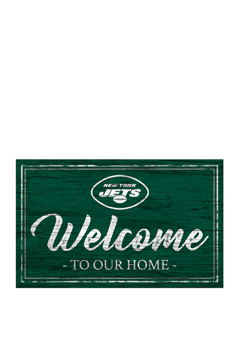 NFL New York Jets  11 in x 19 in Team Color Welcome Sign