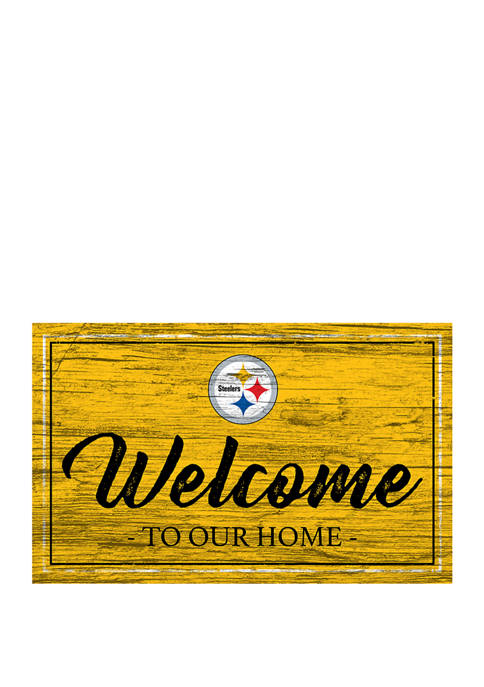 NFL Pittsburgh Steelers 11 in x 19 in Team Color Welcome Sign