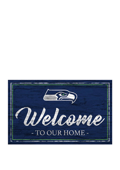 NFL Seattle Seahawks 11 in x 19 in Team Color Welcome Sign