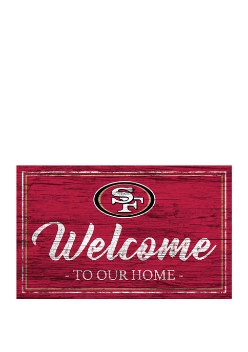 NFL San Francisco 49ers 11 in x 19 in Team Color Welcome Sign