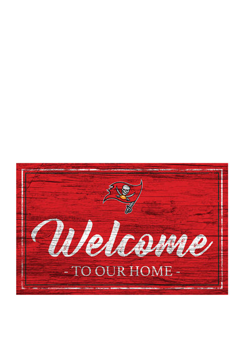 NFL Tampa Bay Buccaneers 11 in x 19 in Team Color Welcome Sign