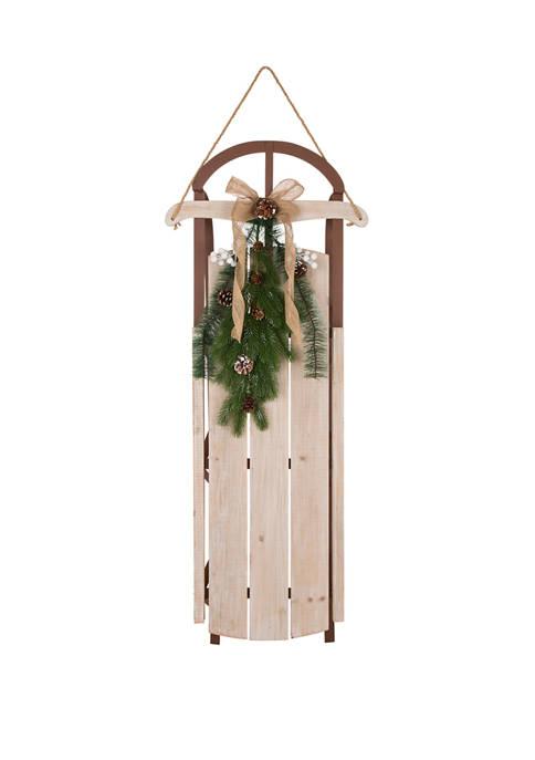 Glitz Home Wooden Sleigh Porch Sign