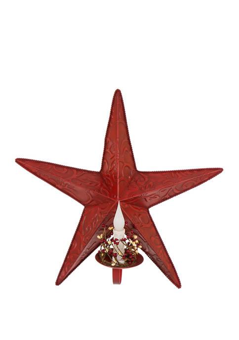 Glitz Home Christmas Metal Star Wall Decor with