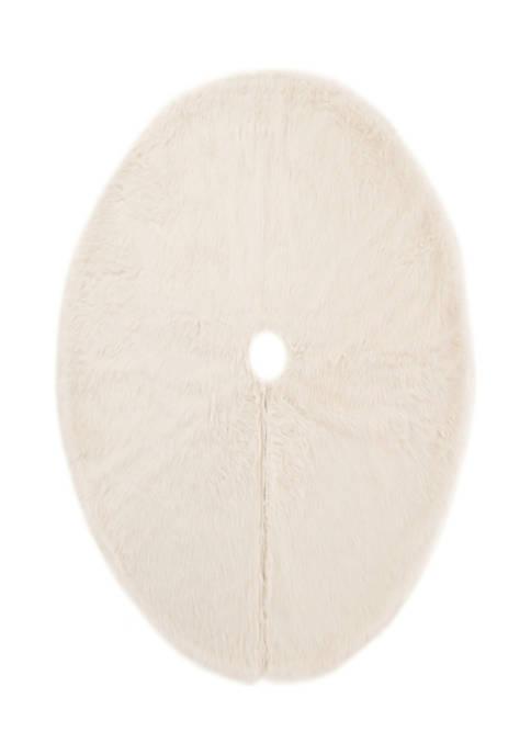 Glitz Home White Plush Christmas Tree Skirt