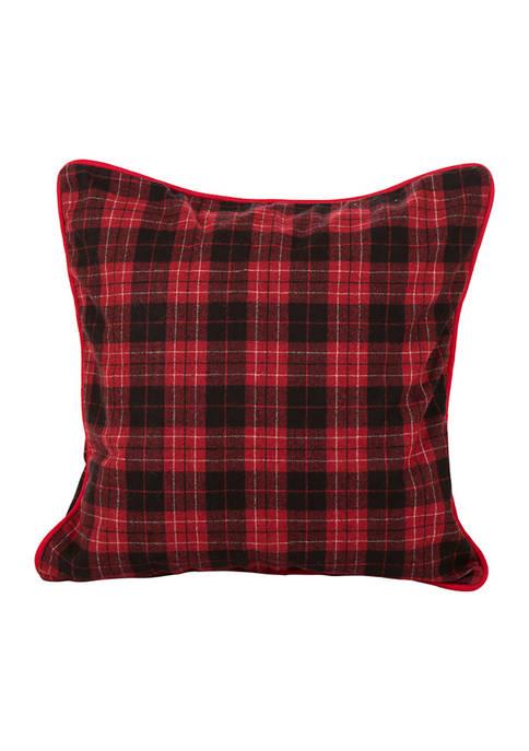 Glitz Home Farmhouse Red & Black Plaid Pillow
