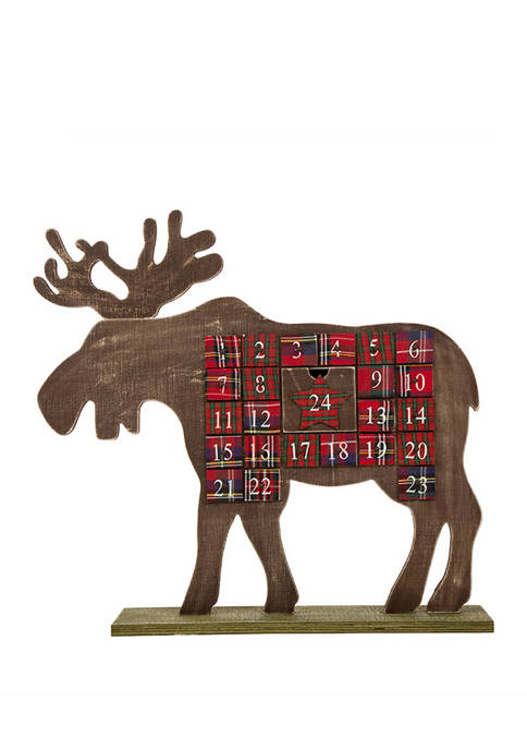 Glitz Home 21.74 Inch Countdown to Christmas Wooden