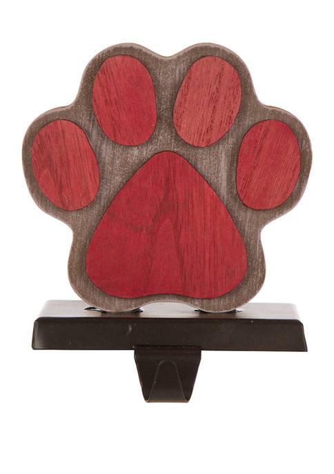 Glitz Home Wooden/Metal Paw Stocking Holder
