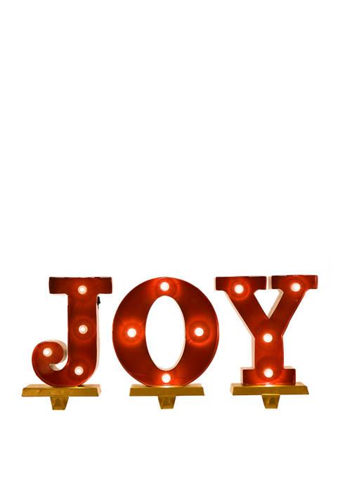 Glitz Home JOY Stocking Holder Set