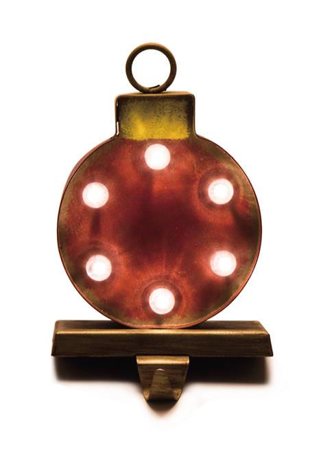 Glitz Home Marquee LED Ornament Stocking Holder