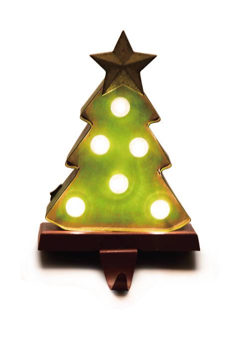 Glitz Home Marquee LED Tree Stocking Holder