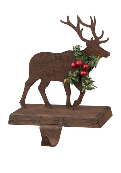 Glitz Home Wooden/Metal Reindeer Stocking Holder