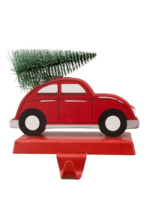 Wooden/Metal Red Car Stocking Holder
