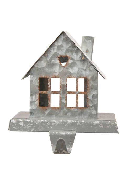 Glitz Home Galvanized House Stocking Holder