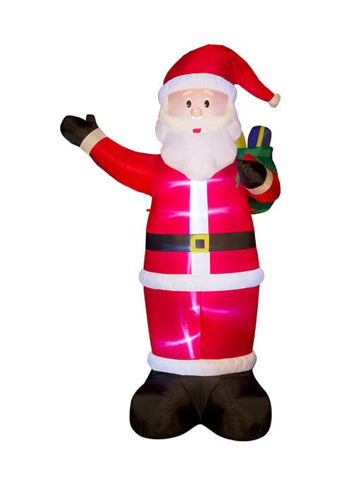 Glitz Home Lighted Inflatable Santa Décor
