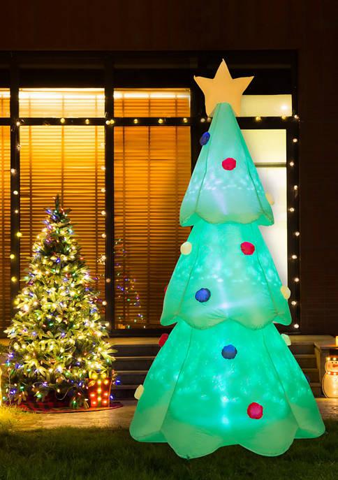 Glitz Home Lighted Inflatable Christmas Tree Décor