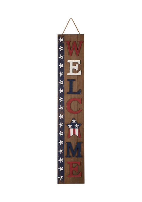 Welcome Stars Porch Sign