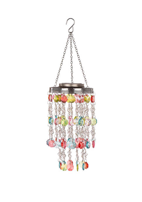 Glitz Home Solar Lighted Hanging Chandelier with Acrylic