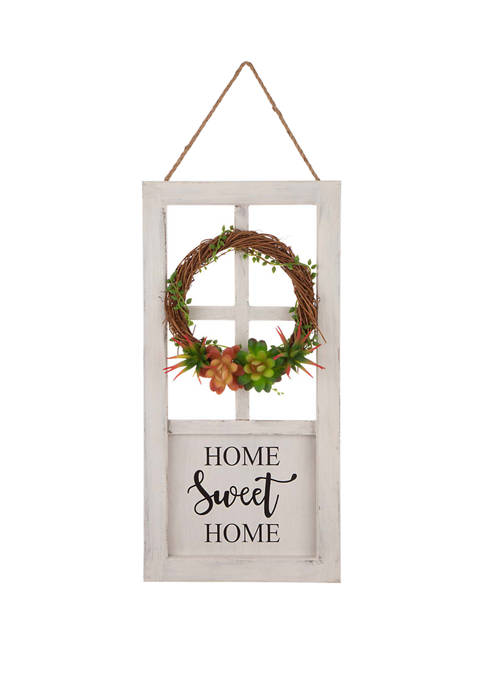 Glitz Home Wooden Door Frame Wall Decor with