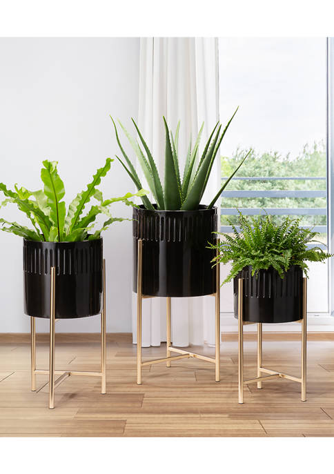 Set of 3 Metal Planters