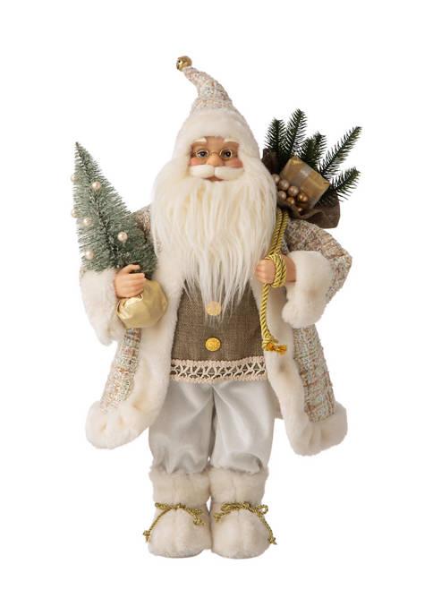 Glitz Home Christmas Santa Figurine