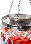 Solar Lighted Hanging Chandelier with Acrylic Jewel Beads