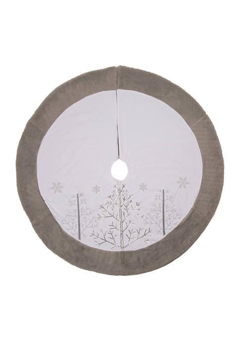 Glitz Home White Fleece Christmas Tree Skirt