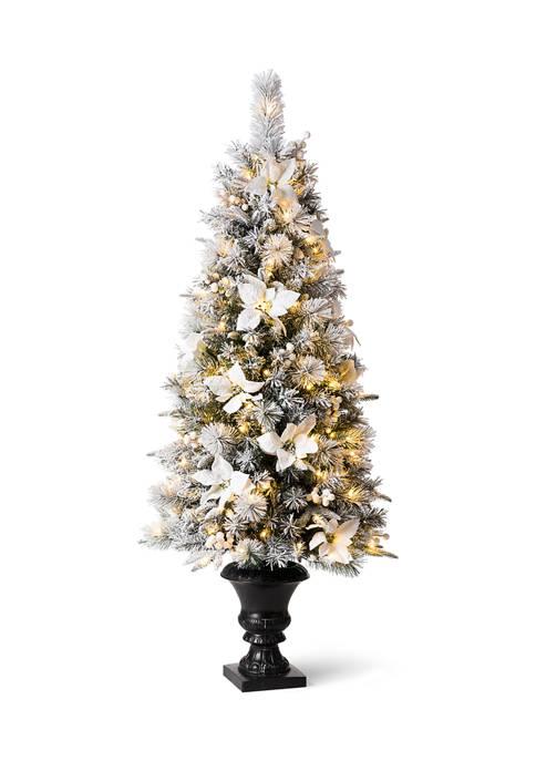 Glitz Home Pre-Lit Pine Artificial Christmas Porch Tree