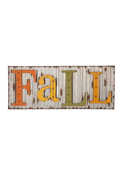 Glitz Home 36 Inch Fall Metal Sign Hanging