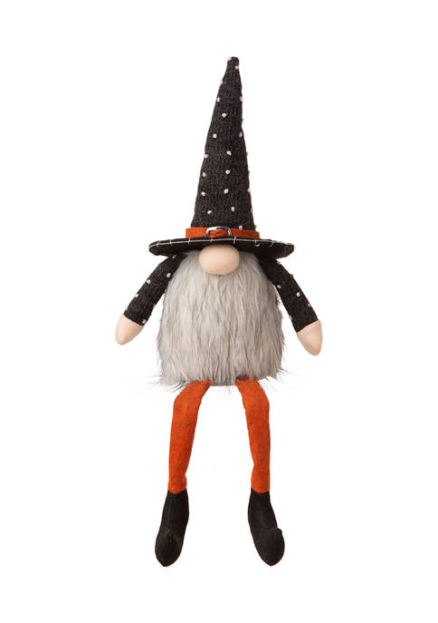 Halloween Fabric Gnome Sitter Décor