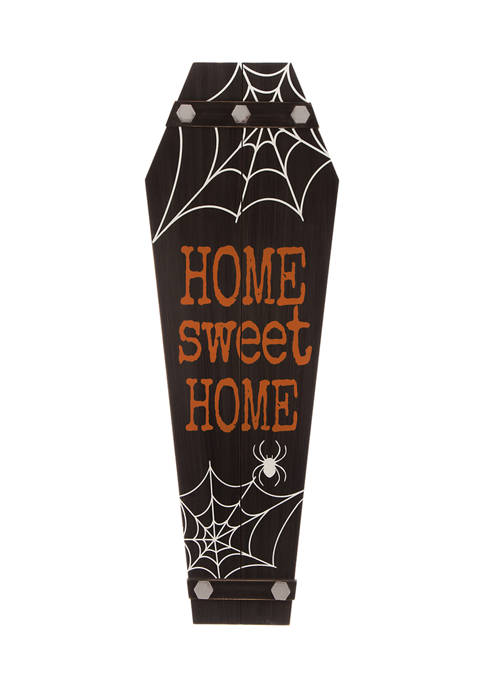 Halloween Wooden Coffin Porch Leaning Décor
