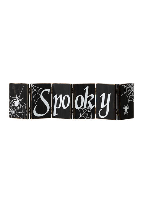Halloween Wooden Hinged Table Sign