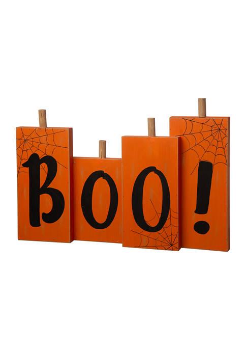 Halloween Wooden Boo Standing Décor