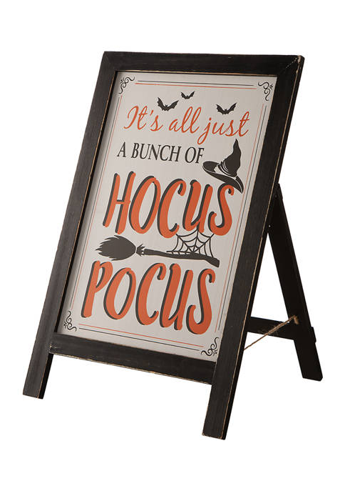 Halloween Wooden Standing Easel Sign Décor or Hanging Décor