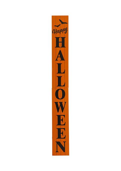 Wooden Happy Halloween Porch Sign