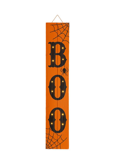 Glitz Home Lighted Wooden BOO Porch Sign