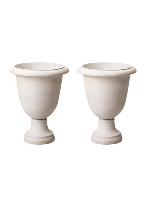 Glitz Home Set of 2 Goblet Round Planters