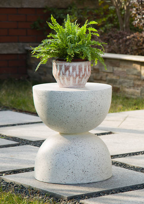 Multifunctional Faux Terrazzo Garden Stool & Accent Table