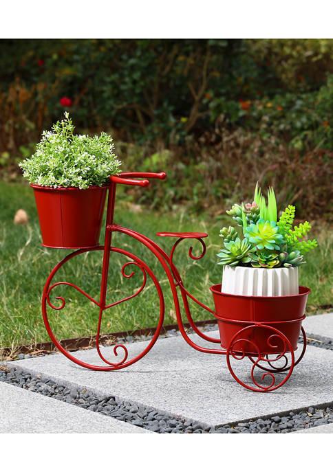 Glitz Home Bicycle Metal Planter