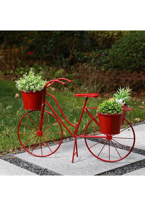 Large Bicycle Metal Planter