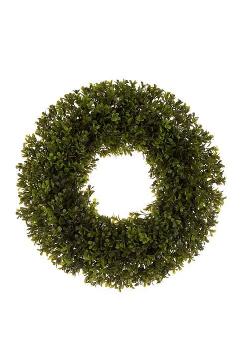Glitz Home Artificial Boxwood Wreath
