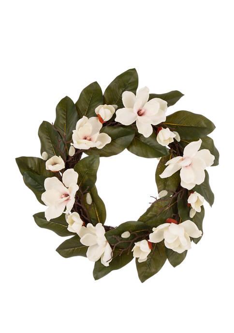 Glitz Home Artificial Magnolia Wreath