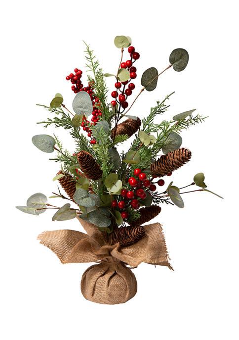 Glitz Home Christmas Floral Table Tree Décor