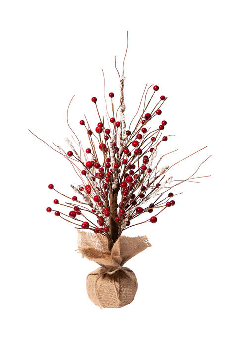 Glitz Home Christmas Red Berry Table Tree Décor