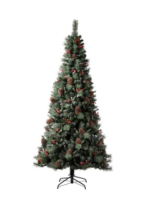 Glitz Home Pre-Lit Green Pine Artificial Christmas Tree