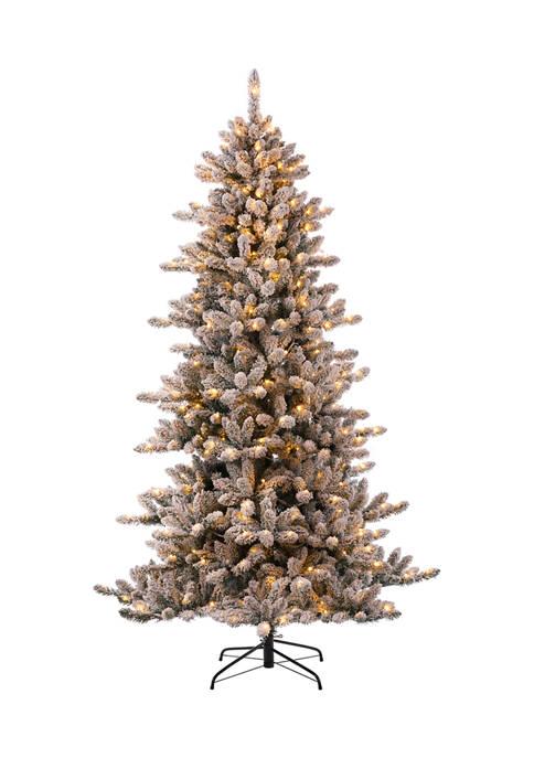 Glitz Home Pre-Lit Snow Flocked Fir Christmas Tree