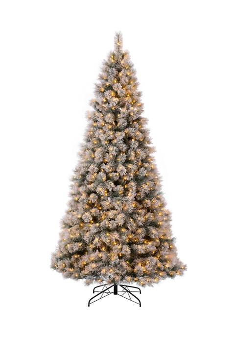 Glitz Home Pre-Lit Snow Flocked Artificial Pine Christmas